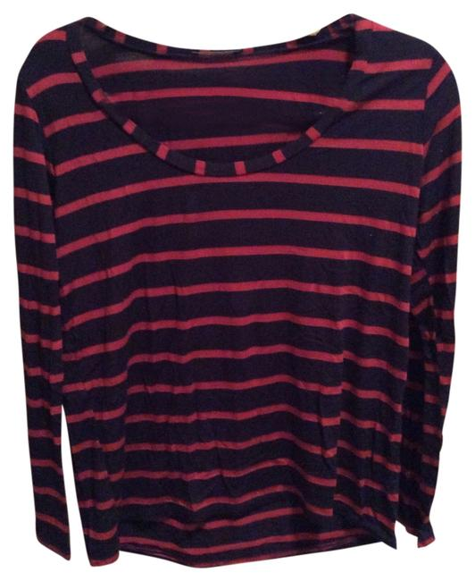 Modcloth T Shirt Blue red striped