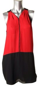 Aqua short dress Black Red on Tradesy