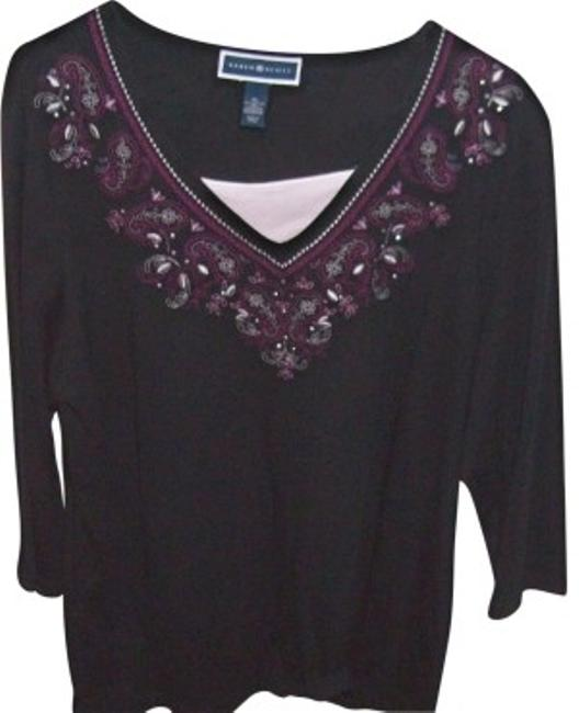 Preload https://item2.tradesy.com/images/karen-scott-black-with-flowers-nice-to-wear-around-the-house-sweaterpullover-size-16-xl-plus-0x-39181-0-0.jpg?width=400&height=650
