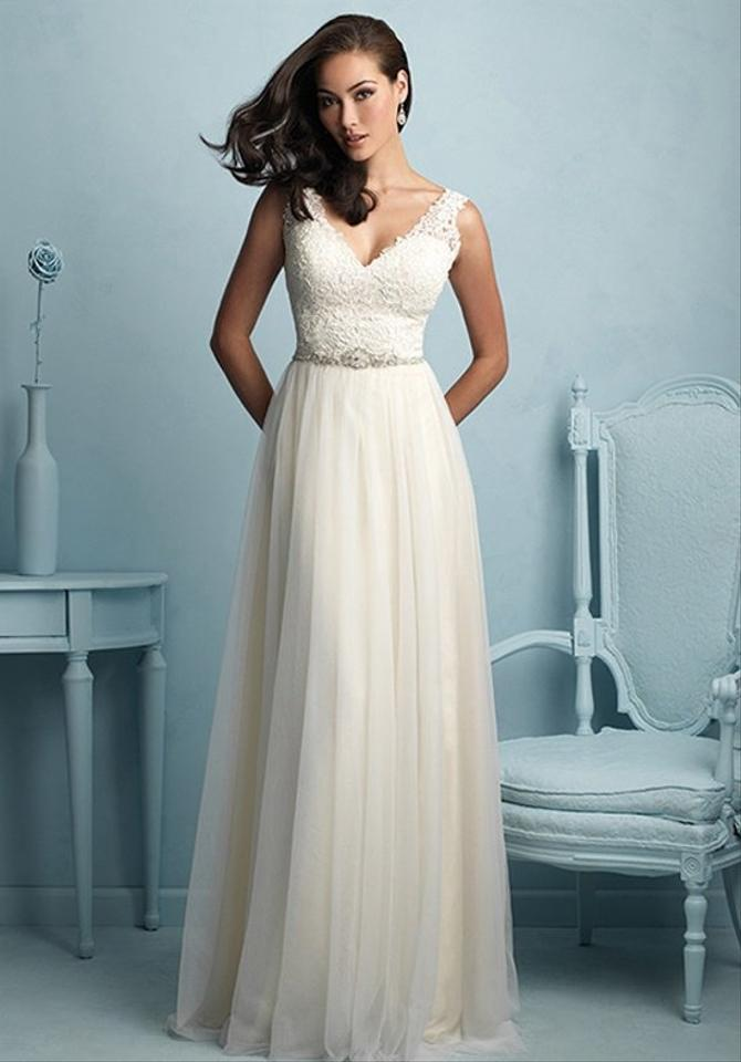 Allure Bridals Gold/Iv/Si Lace 9205 Formal Wedding Dress Size 6 (S ...
