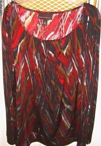 Dana Buchman Top Red Multi Color