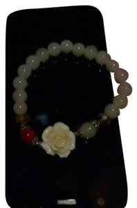 New York & Company Unique Pearl Flower Bracelet