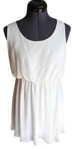 Nordstrom short dress Ivory on Tradesy