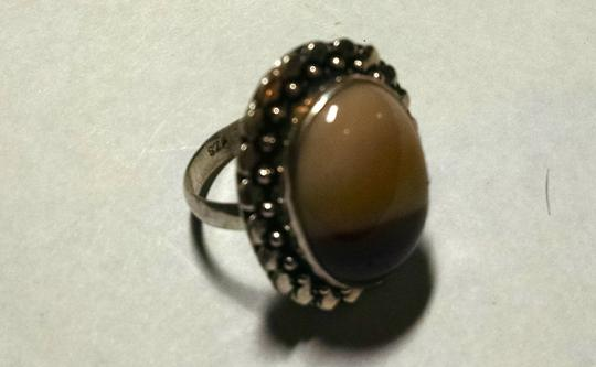 Other Mookalite Gemstone Ring Size 7.5 Large Stone 925 Silver J985