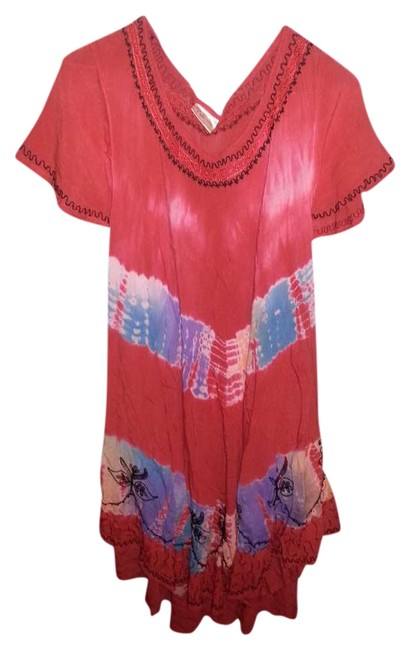 Item - Multi Colors O Knee Length Short Casual Dress Size OS (one size)