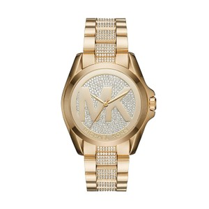 Michael Kors $375 NWT Women's Bradshaw Gold-Tone Pavé Watch MK6487