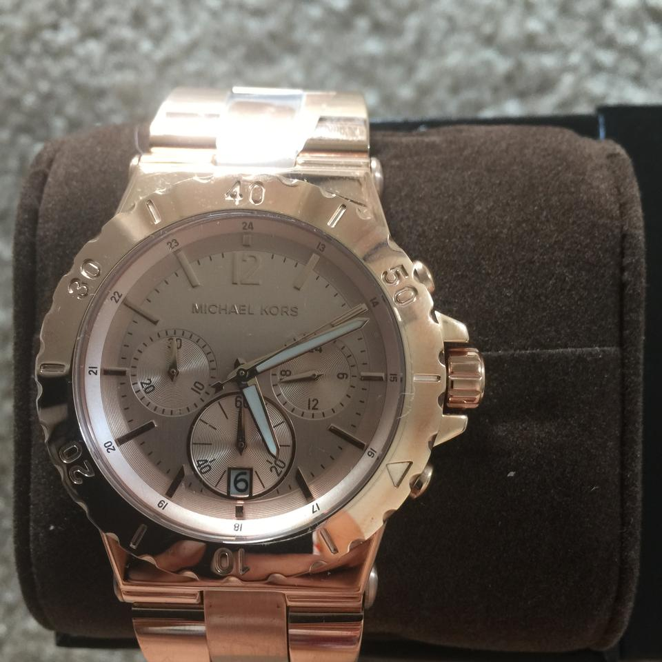 2ce52093b1a1 ... Michael Kors Rosegold Round Dial Rosegold Watch MK5314 Image 6. 1234567