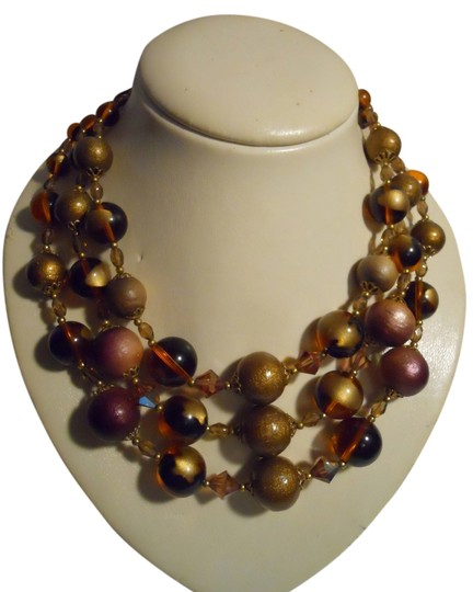 Preload https://item1.tradesy.com/images/gold-and-amber-vintage-3-strand-beaded-necklace-3919900-0-0.jpg?width=440&height=440