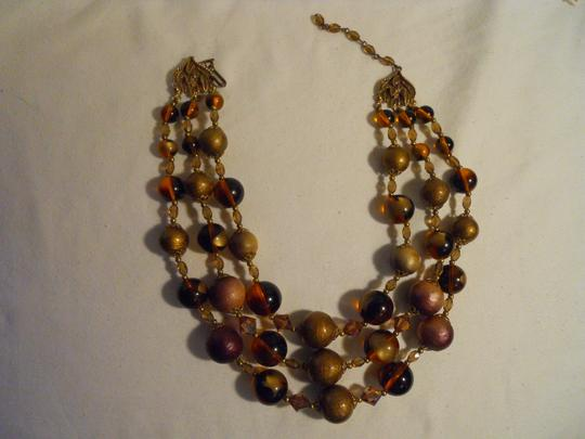 Other Vintage 3 strand beaded necklace