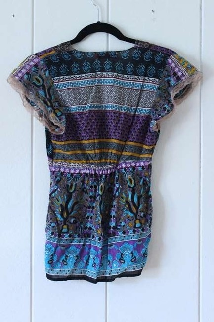 Urban Outfitters Beaded Embellished Bohemian Top Pattern