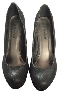 Dollhouse Black Glitter Pumps