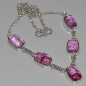 Crackle Quartz Pink Y Necklace Free Shipping