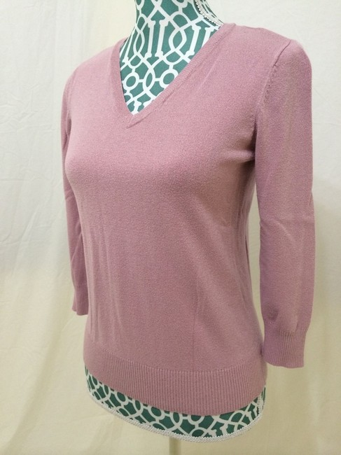 Pria Knit 3/4 Sleeve V Neck Career Casual Work Sweater