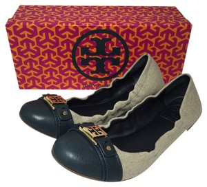 Tory Burch Natural/Navy Flats