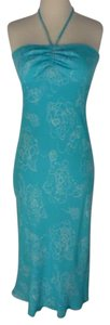 Michael Kors Aqua Summer Silk Strapless Floral Dress