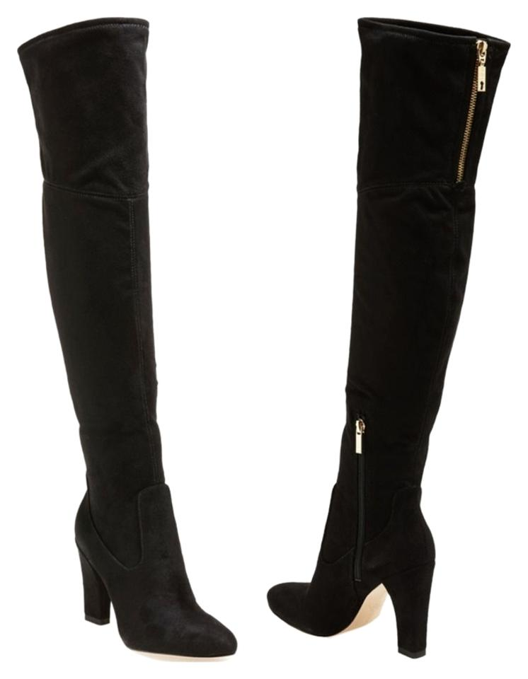Ivanka Trump Black The 'sarena' Over The Black Knee Stretch Boots/Booties 61ce6a