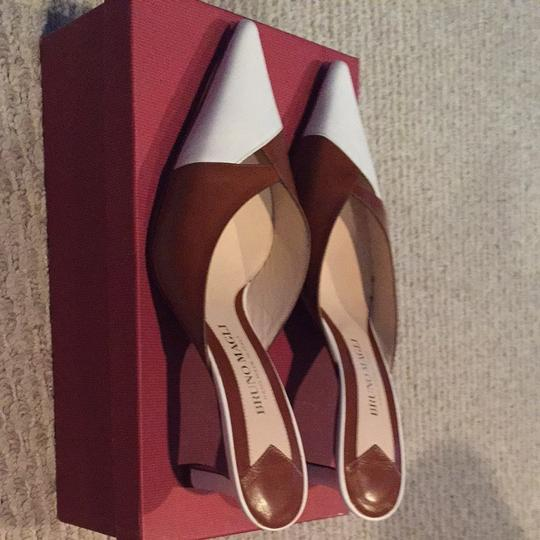 Bruno Magli Brown/white Pumps