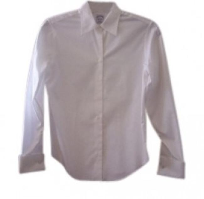 Preload https://item1.tradesy.com/images/brooks-brothers-white-no-iron-french-cuff-classic-look-button-down-top-size-8-m-39215-0-0.jpg?width=400&height=650