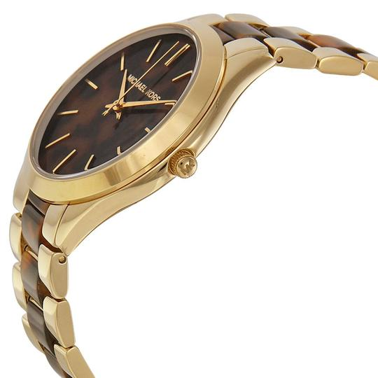 Michael Kors Michael Kors Tortoise-shell Dial Gold-tone Ladies Watch