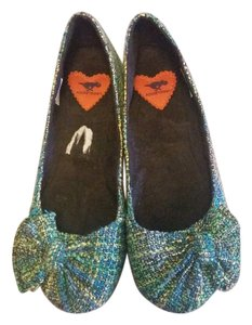 Rocket Dog Green Blue Green, Blue, Yellow multicolor Flats