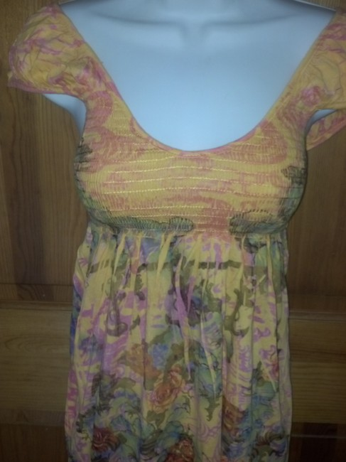 Butterfly Dropout Boho Top Multi