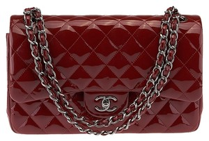 Chanel Jumbo Quilted Patent Shoulder Bag
