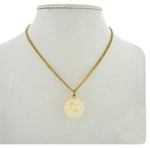 Chanel [ENTERPRISE] Chanel Pearl Ball Medallion Gold Necklace CCAV256 167246