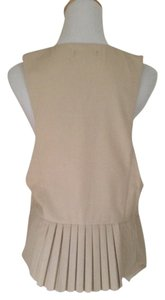 Ryu Pleated Vest Top Light Beige
