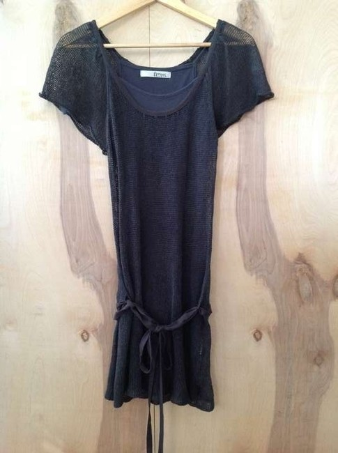 DEPT short dress Dark gray on Tradesy