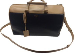 Saint Laurent Duffle 12 Hour Luxury Structured Satchel in Black