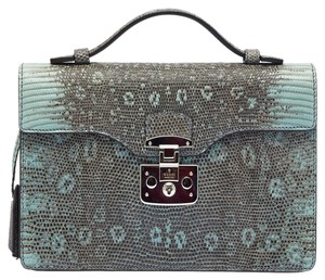 Gucci Python Leather Luxury Tote in Blue