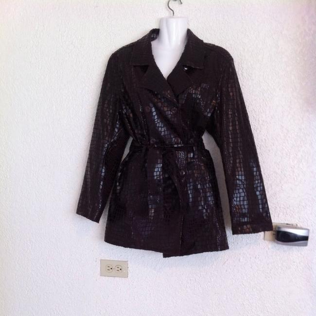 Selene Sport Trench Croc Skin Double Breasted Trench Coat