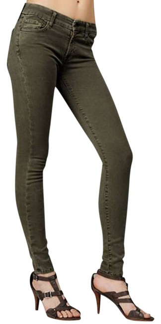 Item - Olive Medium Wash Gwenevere Super In Skinny Jeans Size 29 (6, M)