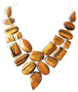 Other Huge Tiger Eye Statement Necklace