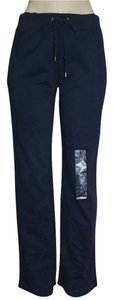 Anne Klein AK Anne Klein Navy Sport Women's 8fi French Terry Lounge Sweatpant Yoga Gym Workout (M) Pants