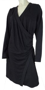 Max Studio Medium Looks New Long Sleeve Cotton Polyester Stretchy Ruching Pullover Stury Knit Sexy Dress