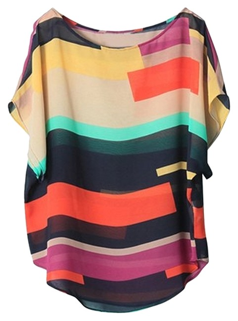 Item - Multicolor Colored Polyester Tank Top/Cami Size 12 (L)