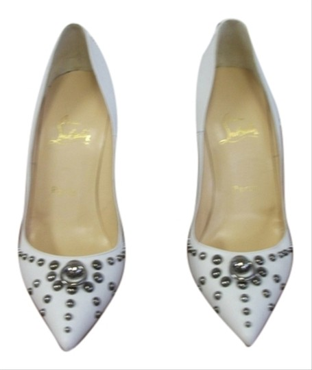 Preload https://item3.tradesy.com/images/christian-louboutin-white-door-knockers-pumps-size-us-85-regular-m-b-3923587-0-0.jpg?width=440&height=440
