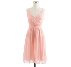 J.Crew Misty Rose Heidi Dress In Silk Chiffon Dress
