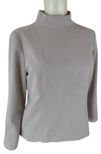 Ann Taylor Size 6 3/4 Sleeves Stretch Top Taupe Heather