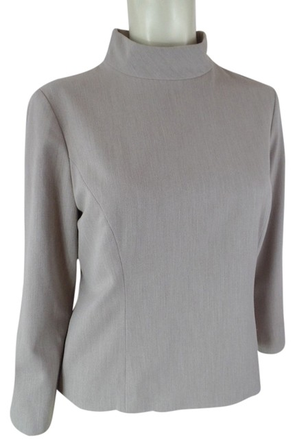 Preload https://item5.tradesy.com/images/ann-taylor-taupe-heather-lined-half-zip-back-34-sleeves-seamed-princess-lines-stretch-blend-blouse-s-3924064-0-0.jpg?width=400&height=650