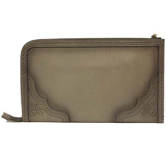 Gucci Evening Night Out Luxury Classic Leather Gray Clutch Image 1