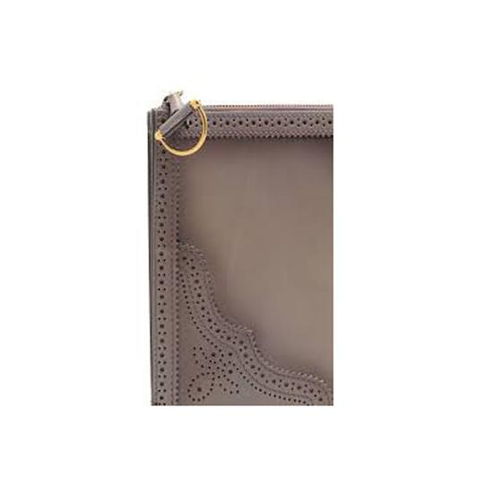 Gucci Evening Night Out Luxury Classic Leather Gray Clutch Image 4
