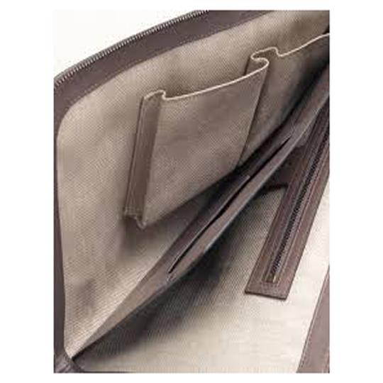 Gucci Evening Night Out Luxury Classic Leather Gray Clutch Image 6