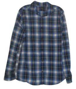 Hollister Button Down Shirt Navy/Grey