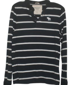 Abercrombie & Fitch Button Down Shirt Navy/white striped