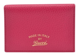 Gucci GUCCI PINK LEATHER CARD/ID HOLDER