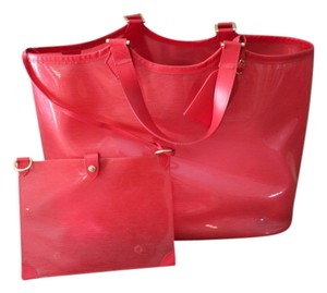 Louis Vuitton Lagoon Bay Tote Red Epi Beach Bag
