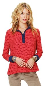 Free People Top Red/Navy