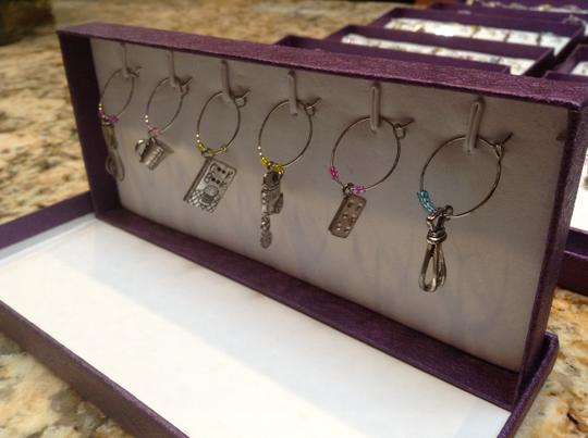 15 Pieces - Wine Charms For Stemmed Glasses - Set Of 6 - Kitchen Themed